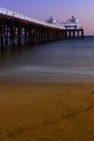 海滩码头车手海浪 免版税库存照片