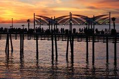海滩码头redondo 库存图片