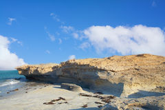 海滩砂岩 库存照片
