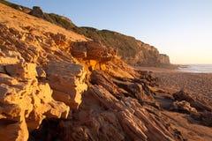 海滩砂岩 免版税库存图片