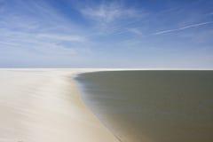 海滩离开了 库存图片