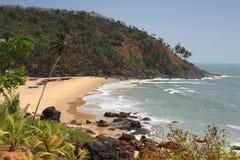 海滩离开的印地安人 免版税库存图片