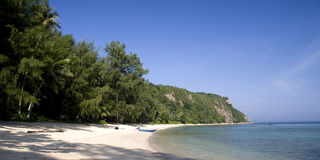 海滩离开的热带 库存照片