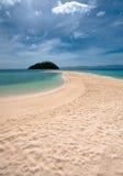 海滩离开的菲律宾romblon 库存图片