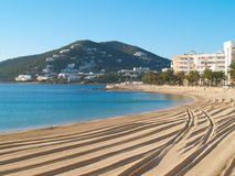 海滩离开的ibiza 免版税图库摄影