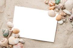 海滩空白明信片假期 免版税图库摄影