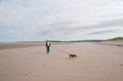 海滩空的人 免版税库存照片