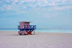 海滩空的佛罗里达迈阿密美国 库存图片