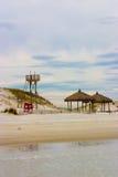 海滩空的公园 图库摄影
