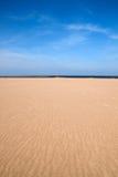 海滩空的场面 免版税库存图片