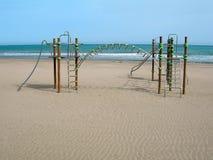 海滩空的操场 库存图片