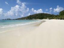 海滩空的白色 库存照片