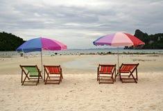 海滩空的ko phiphi泰国 免版税图库摄影