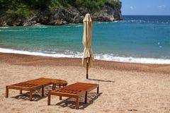 海滩空的montenegro 库存图片