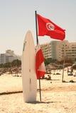 海滩突尼斯人 免版税图库摄影