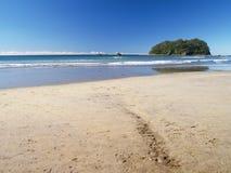 海滩端 免版税库存照片
