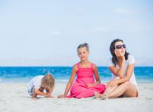 海滩系列愉快热带 库存图片