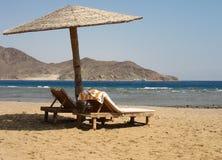 海滩红海视图 免版税库存图片
