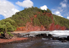 海滩红色沙子 免版税库存图片