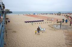 海滩纪念monica ・圣诞老人 免版税库存照片