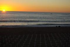 海滩纪念monica ・圣诞老人 免版税库存图片