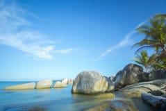 海滩纳土纳群岛 库存图片