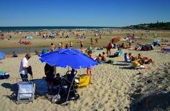 海滩缅因ogunquit 图库摄影