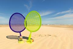 海滩网球比赛 库存图片