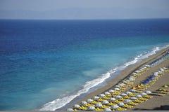 海滩罗得斯 免版税库存照片