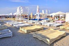 海滩罗马尼亚 免版税图库摄影