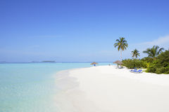 海滩美丽热带 图库摄影
