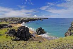 海滩美丽的冰岛 免版税库存图片