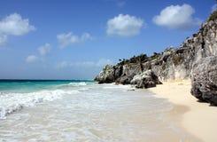 海滩美丽的加勒比 库存照片