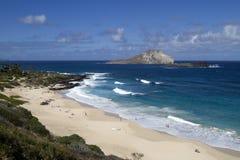 海滩美丽的夏威夷makapu u 库存照片