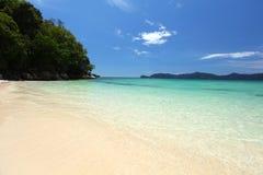 海滩美丽的婆罗洲 免版税库存照片