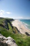 海滩美丽的峭壁 免版税图库摄影