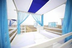 海滩美丽的帐篷 图库摄影