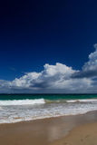 海滩美丽的波多里哥 免版税库存图片