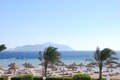 海滩美丽的红海 免版税库存照片