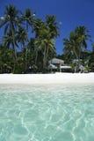 海滩美丽的蓝色boracay海岛天空 免版税图库摄影