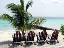 海滩美丽的curacao 免版税库存图片