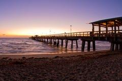海滩美好的佛罗里达日出 免版税库存图片
