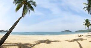 海滩美好的全景 图库摄影
