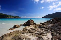 海滩美好的全景 库存照片