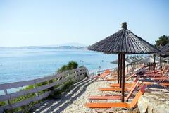 海滩美好的含沙假期 免版税图库摄影