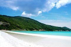 海滩美好的风景 免版税库存照片