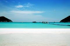 海滩美好的风景 免版税库存图片