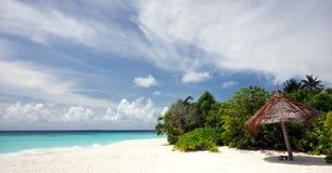 海滩美好的风景 免版税图库摄影
