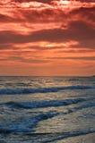 海滩美好的corfu海岛日落 图库摄影