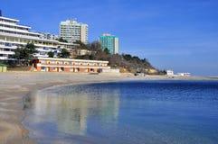 海滩耸立孪生 免版税库存照片